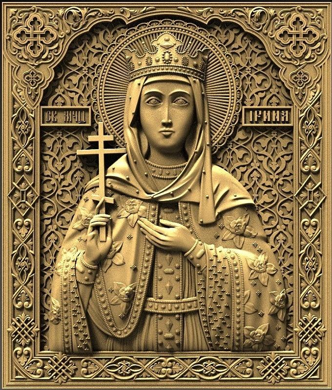 Икона святая Ирина - модель для ЧПУ скачать бесплатно