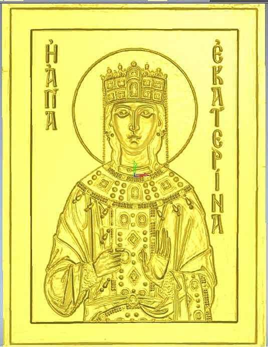 Пано святая Екатерина - модель для ЧПУ скачать бесплатно